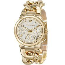 Gold-tone Ladies Watch MK3131...i kind of like the bulky chain look