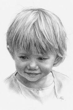 Children in pencil