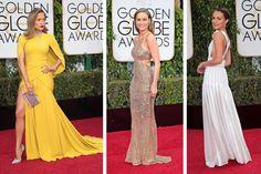 Jennifer López - la JLo, en amarillo. #amarillo The Golden Globes red carpet style from the biggest awards show (so far) of 2016.