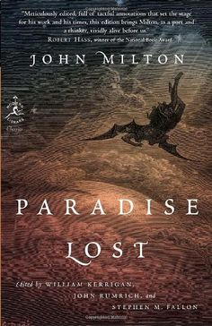 Paradise Lost by John Milton. Wow! What a great book.  Such a unique look at the fall of Satan and man.