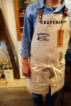Canvas Apron.Made in japan.「TESHIGOTO」: