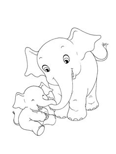 Kids Coloring Sheets Pages Books Colouring Elephant Nursery Rock Painting Page Cartoon Images