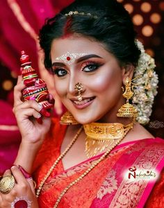 Bengali Bridal Makeup, Bengali Wedding, Bengali Bride, Bride Makeup, Indian Ethnic, India Beauty, Party Wear, Traditional, Gallery