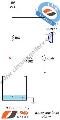 Water Level Indicator Alarm Circuit | level tank | Circuit ...