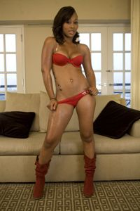 Lady in red! http://bitly.com/xImgOi sexi black, black girl