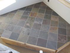 corner wood stove ideas | slate and oak hearth for wood stove exterior completed upstairs bath ...