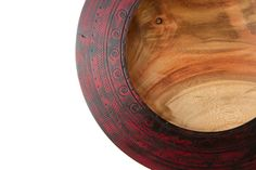 Textured Red Timber Plate - Handmade by From a Seed Wood Turning #timber #wooden #unique #handmade #art