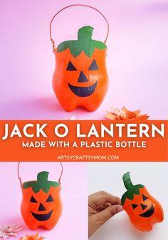 Plastic Bottle Jack O Lantern Craft