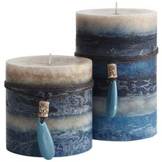 Oceans Layered Pillars Candles If you like this then check out the Home Decor at designsbynn.com