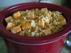 Crock Pot Mac and Cheese - have made this several times and is so good. High for 4 hours.