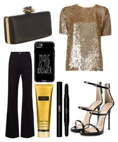 """""""Untitled #10088"""" by ohnadine on Polyvore featuring P.A.R.O.S.H., Veronica Beard, Alexander McQueen, Giuseppe Zanotti, Victoria's Secret, Yves Saint Laurent and Casetify"""