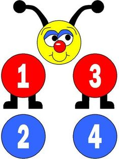 Números - Espe 2.2 - Picasa Web Albums Preschool Curriculum, Learning Activities, Preschool Activities, Hungry Caterpillar Activities, All About Me Book, Abc Coloring Pages, Preschool Spanish, Montessori Materials, Chenille