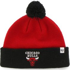 competitive price 2a3ff ddfff ... france toddler chicago bulls 47 brand red bam bam cuff knit hat afbf4  cd23a