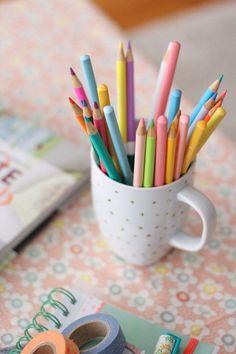 Fresh colored pencils...