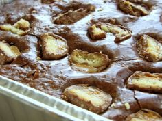 Twix Candy Bar Triple Chocolate Brownies Recipe