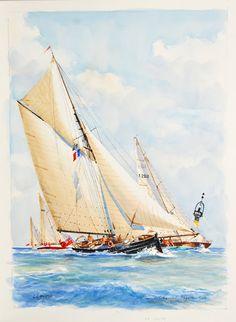 Sailing Regatta, Nautical Art, Ship Art, Watercolor Paintings, Watercolors, Marines, Sailing Ships, Images, Guys