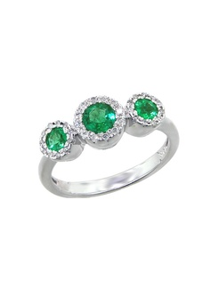 see details here: Effy Jewelry Emerald and Diamond Ring, .83 TCW