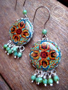 Boho Jewelry Earrings, Unique earrings, Mexican jewelry, Statement earrings, Artisan jewelry, turquoise earrings, dangle earrings, Handmade