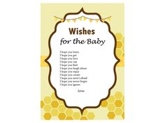wishes_for_baby_Bee Theme, Gender Reveal, what will it bee, Mommy to Bee Baby Shower Game, Baby shower Activities, Game Prize, Unique Baby Shower, hbee1