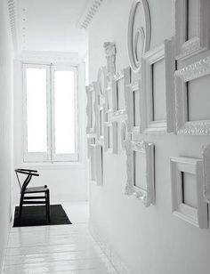 spray paint ornate frames all white