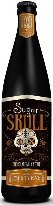 Sugar Skull Chocolate Milk Stout / Ten Fifty-Five  #skull #halloween #packaging