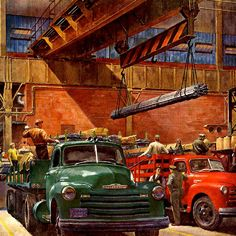 Detail Of Chevrolet Trucks Design Payload Leaders - www.MadMenArt.com features 1200 amazing details from vintage posters, advertisements and magazine covers that we particularly like. #Vintage #Ads #VintageAds #Design #Posters #MagazineCovers
