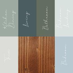Green Paint Colors, Paint Color Schemes, House Color Schemes, Riverside Cottage, Color Combinations Home, Farmhouse Paint Colors, Farm House Colors, Condo Design, Living Room Green
