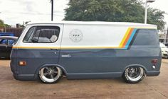 I love everything about this Chevy van. Stance, wheels, paint....it's all awesome.