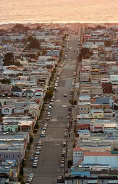 Moraga Street (Sunset District, San Francisco, California) fantastisk City. I lived on this exact spot for 5 years