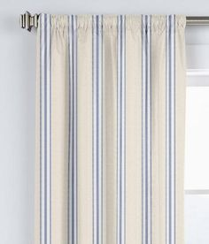 French Ticking Rod Pocket Curtains - Country Curtains®