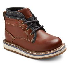Toddler Boy's Double Collar Boots - Brown