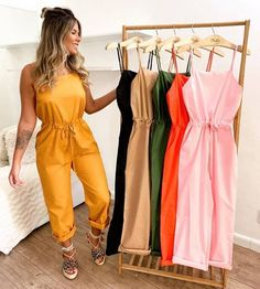 Cool Outfits, Summer Outfits, Casual Outfits, Short Box Braids Hairstyles, Look Blazer, Boho Fashion, Womens Fashion, Jumpsuit With Sleeves, Summer Tops