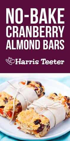 Feeding a crew? Whip up these No-Bake Crunchy Cranberry Almond Bars! The dried cranberries and white chocolate morsels make for one sweet morning treat or daytime snack.
