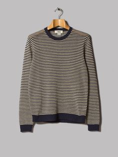 Y.M.C. Long Sleeve Crew Neck (Navy / Cream)