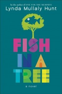 Fish In a Tree by Lynda Mullaly Hunt - For fifth-grader Ally, having dyslexia is only adding to life's problems. Throw in school bullies, a transient, military lifestyle, and a dad who's been deployed overseas. Guest reviewer, teacher Maggie Moore, shares her take on this fab novel of adolescent struggles and how Ally and her friends learn to deal with them. #kidlit #contemporaryfiction #militaryfamily #adolescence #childrensbookreviews #dyslexia #learningdisabilities #middlegrade