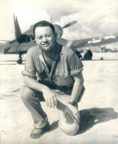 """Gregory """"Pappy"""" Boyington (December 1912 – January was a highly decorated American combat pilot who was a United States Marine Corps fighter ace during World War II. He received both the Medal of Honor and the Navy Cross. Ww2 Aircraft, Military Aircraft, Black Sheep Squadron, Photo Avion, Ww2 Planes, Fighter Pilot, Usmc, Marines, Aviation Art"""