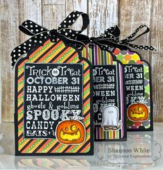 Taylored Expressions - Halloween Treat Holders by Shannon White* #halloween…