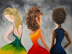 Learn how paint 3 kinds of Hair Ash Blonde long, Curly Brunette and Natural Afro Hair. Together I will show you how form, line , value and hue can create eas...