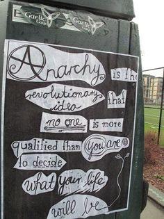 sich mal mit anarchie und anarchisten beschäftigen... wissenachaftlich fundiert natürlich