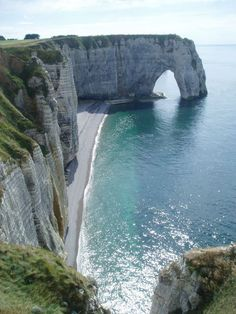Étretat, France, I'm pretty sure this is the place they used for The Count of Monte Cristo