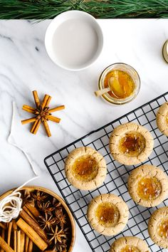Almond Thumbprint Cookies w/ Orange Cardamom Jam {Vegan} by Faring Well