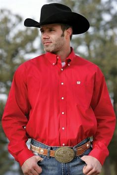 Men's Cinch Button Down -- The #CowboyCutie has his #Christmas shirt on, do you have yours yet? | SouthTexasTack.com