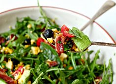 Blueberry and Maple Bacon Salad - http://milk-and.blogspot.com.au/2013/10/