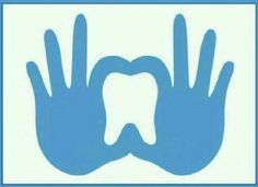 Hand sign show tooth safety.