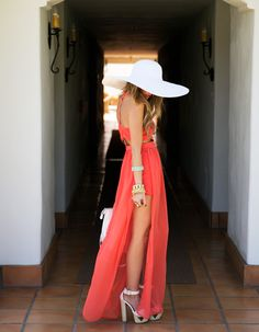 Stunning in a white hat and long maxi dress #Colgate #OpticWhite #WeddingMonth http://bit.ly/1lc9DHM