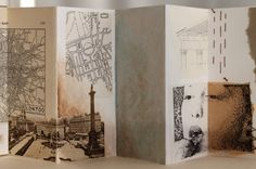 """accordion book - cardstock, vintage illustrations, vellum paper, recycled kraft papers, tissue paper watercolour, ink, pencil, pen, eyelets, vintage ribbon 6,5x15x1cm / 2.6""""x5.9""""x0.4"""" I said I wasn't going to finish this, but here it is. It only took some four, five years..."""