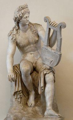 Roman copy of a Hellenistic Greek marble statue of Apollo