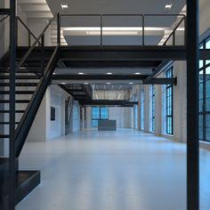 H Design, Loft Design, Garage Design, Warehouse Home, Warehouse Design, Minimalist Bathroom, Minimalist Home, Chicago Lofts, Factory Architecture