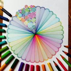 "2,910 Likes, 38 Comments - Mandalas, Zentangles, Doodles (@lady_meli_art) on Instagram: ""Back to rainbow colors again , I just love it. """