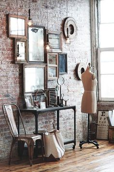 Exposed brick is a  must Discover Your Home's Decor Personality: Warm Industrial Inspirations | Apartment…